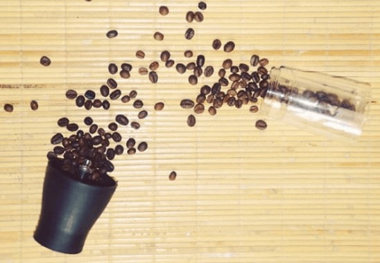 Hario Mini Mill Spilled Coffee Beans