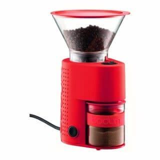Red Bodum Bistro Coffee Grinder