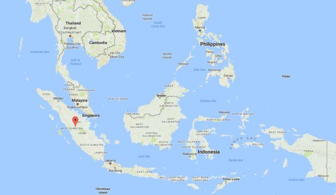 Sumatra in World Map